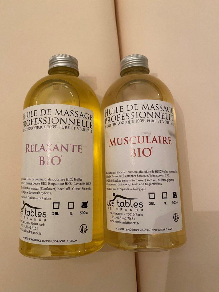 massage relaxant huile